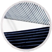 Tempe Art Center Roofline Round Beach Towel