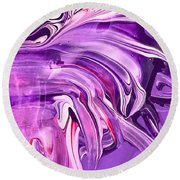 Tempera Paint Series 6 Round Beach Towel