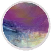 Temperamental Twilight Round Beach Towel