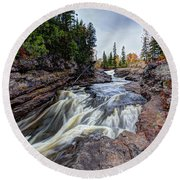 Temperance River State Park Round Beach Towel
