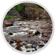 Temperance River Round Beach Towel