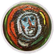 Tempest Of The Damned Round Beach Towel by Darrell Black