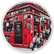 Temple Bar Pub Round Beach Towel