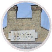 Temple College Round Beach Towel by Bill Cannon