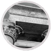 Round Beach Towel featuring the  Temple Of Kom Ombo by Silvia Bruno