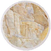 Temple Of Ramses II Round Beach Towel