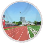 Temple Owls - Dan And Shelley Boyce Track Round Beach Towel by Bill Cannon