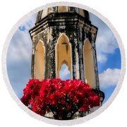 Temple Tower Round Beach Towel