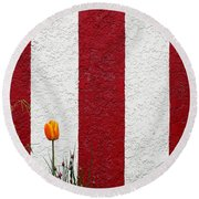 Temple Wall Round Beach Towel by Ethna Gillespie