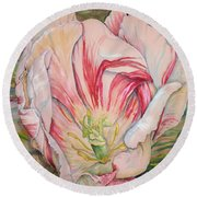 Tempting  Tulip Round Beach Towel