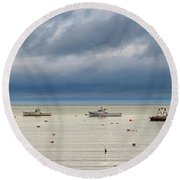Round Beach Towel featuring the photograph Tenants Harbor by Rick Berk