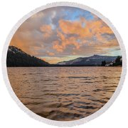 Tenaya Lake Round Beach Towel