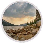 Tenaya Lake - Yosemite Round Beach Towel