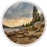 Tenaya Lake - Yosemite Round Beach Towel
