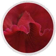 Tender Orchid Round Beach Towel