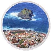 Tenerife - Garachio Round Beach Towel