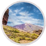 Tenerife Round Beach Towel by JR Photography