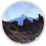 Tenerife - Mount Teide Round Beach Towel