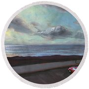 Tenerife Sea And Sky Round Beach Towel