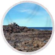 Tenesar - Lanzarote Round Beach Towel