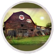 Tennessee Barn Round Beach Towel by Marion Johnson