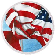 Tennessee Heroes Round Beach Towel