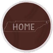 Round Beach Towel featuring the digital art Tennessee Home by Heather Applegate