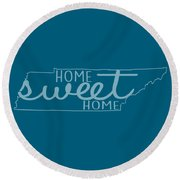 Round Beach Towel featuring the digital art Tennessee Home Sweet Home by Heather Applegate