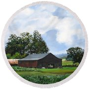Round Beach Towel featuring the painting Tennessee Sky by William Brody