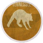 Tennessee State Facts Minimalist Movie Poster Art Round Beach Towel