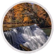 Tennessee Waterfall Round Beach Towel