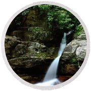 Tennessee's Blue Hole Falls Round Beach Towel