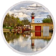 Tenney Lock - Madison - Wisconsin Round Beach Towel