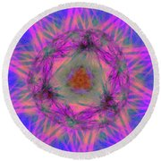 Tenographs Round Beach Towel