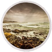 Tense Seas Round Beach Towel