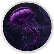 Tentacles Round Beach Towel