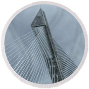 Terenez Bridge II Round Beach Towel