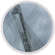 Terenez Bridge IIi Round Beach Towel