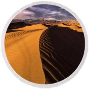 Terminus Awaits Round Beach Towel