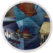 Terra Cotta Vase Round Beach Towel