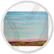 Terraced By Nature Round Beach Towel