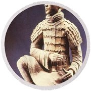 Terracotta Soldier Round Beach Towel