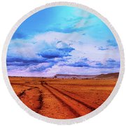 Terrain Round Beach Towel by Charuhas Images