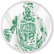 Terry Rozier Boston Celtics Pixel Art 11 Round Beach Towel