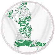 Terry Rozier Boston Celtics Pixel Art 12 Round Beach Towel