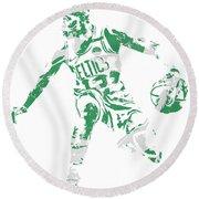 Terry Rozier Boston Celtics Pixel Art 13 Round Beach Towel