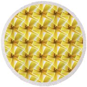 Tessel Flower Round Beach Towel