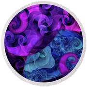 Tessellation Round Beach Towel