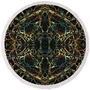 Tessellation V Round Beach Towel by David Gordon