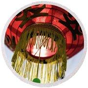 Tet Lantern Saigon Round Beach Towel by For Ninety One Days